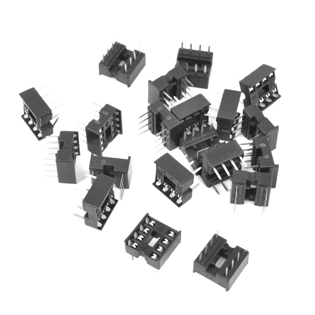20 Pcs 2.54mm PCB Board 2 Row 8-Pin DIP Solder Type IC Socket Adapter