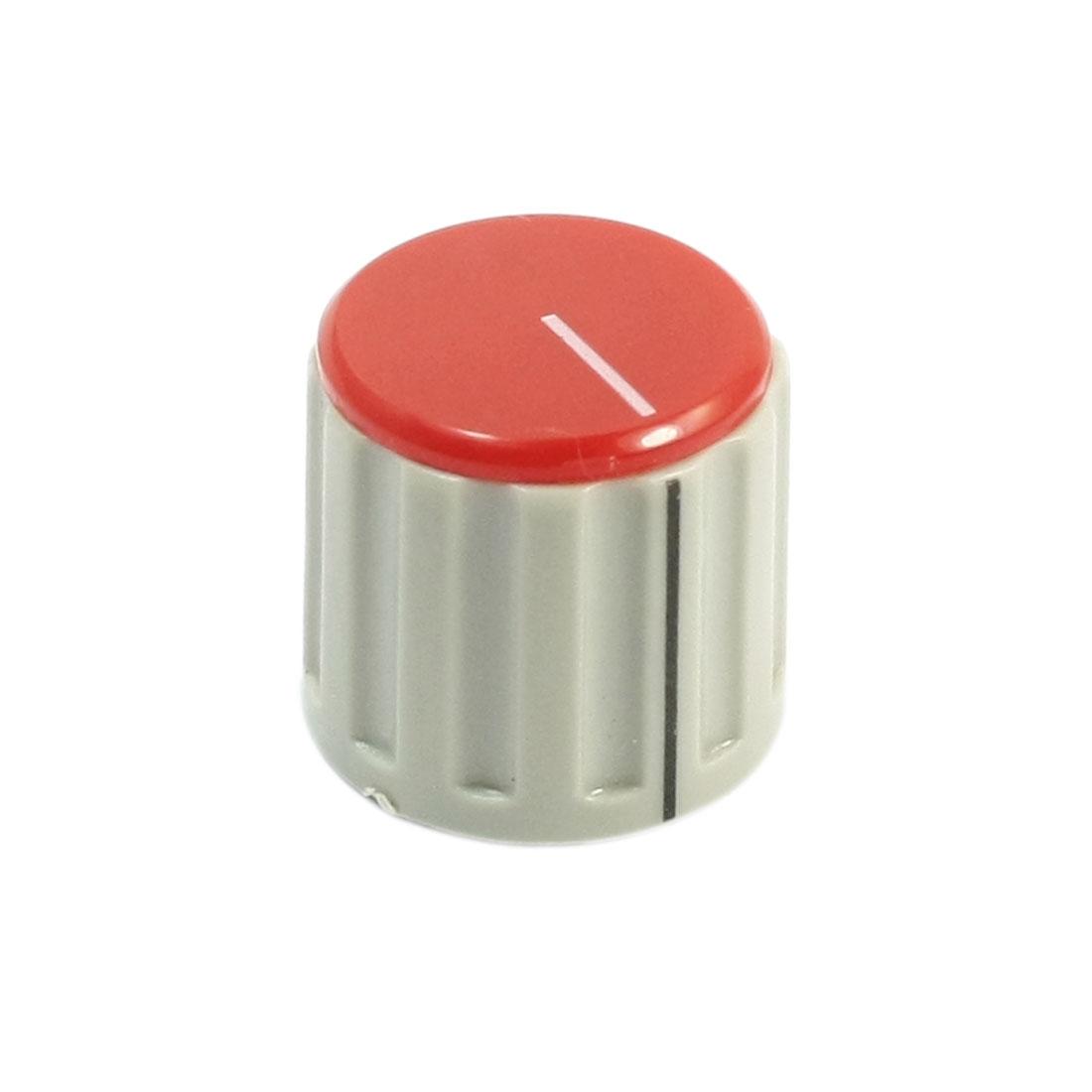 6mm Split Shaft Red Cap Stereo Radio Taper Potentiometer Volume Knob KN115