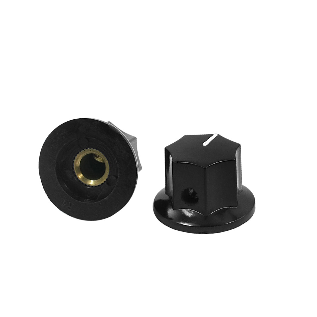 2pcs Plastic 6mm Shaft Dia Volume Knob Cap B-1 for Potentiometer Pot