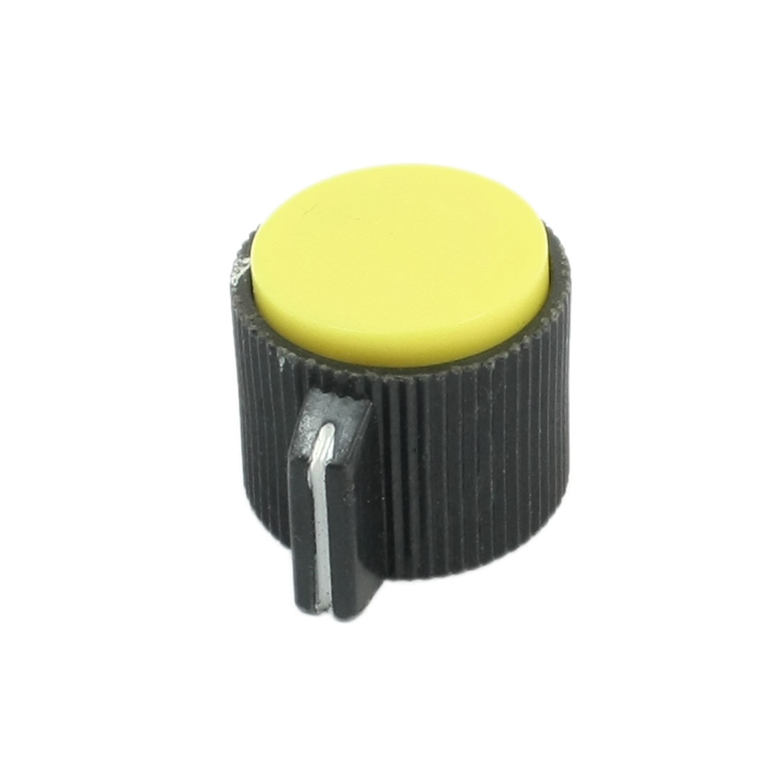 Plastic 6mm Shaft Dia Yellow Top Volume Knob Cap KN113 for Potentiometer Pot