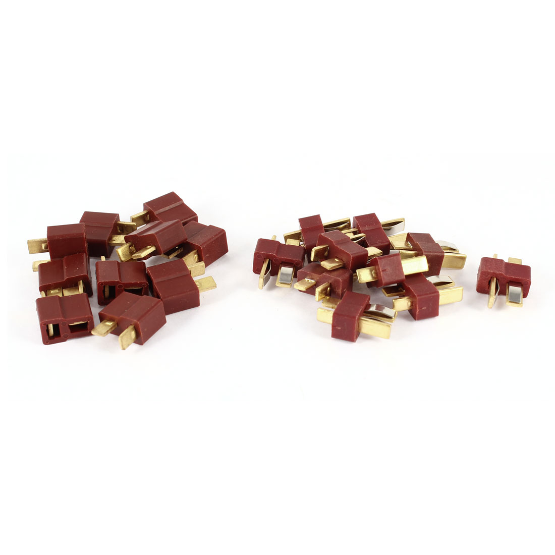 10 Pairs Dark Red T Connect Male to Female M/F Connector for RC Helicopter ESC Lipo Li-po Battery
