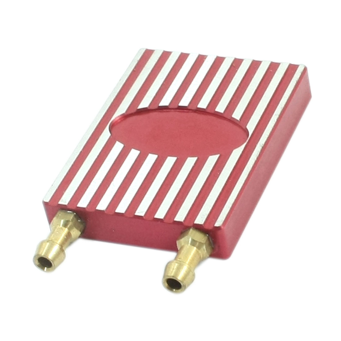 Brushless Electric RC Boat Fuchsia Metal CNC Water Cooling Plate 2 Ways 42mm x 32mm x 7mm