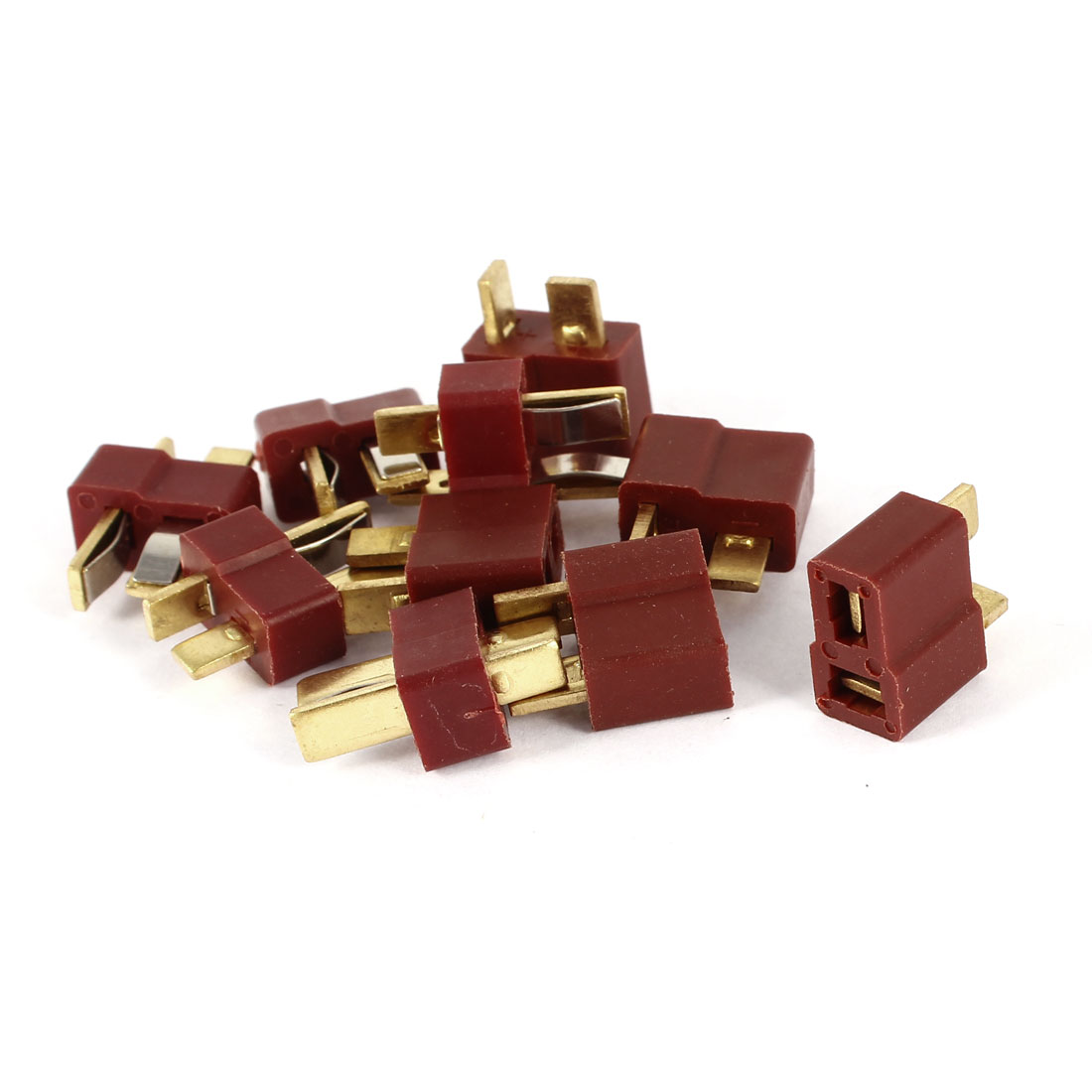 5 Pairs Dark Red Male to Female M/F T Connect Connector for RC Model Toy Lipo Battery