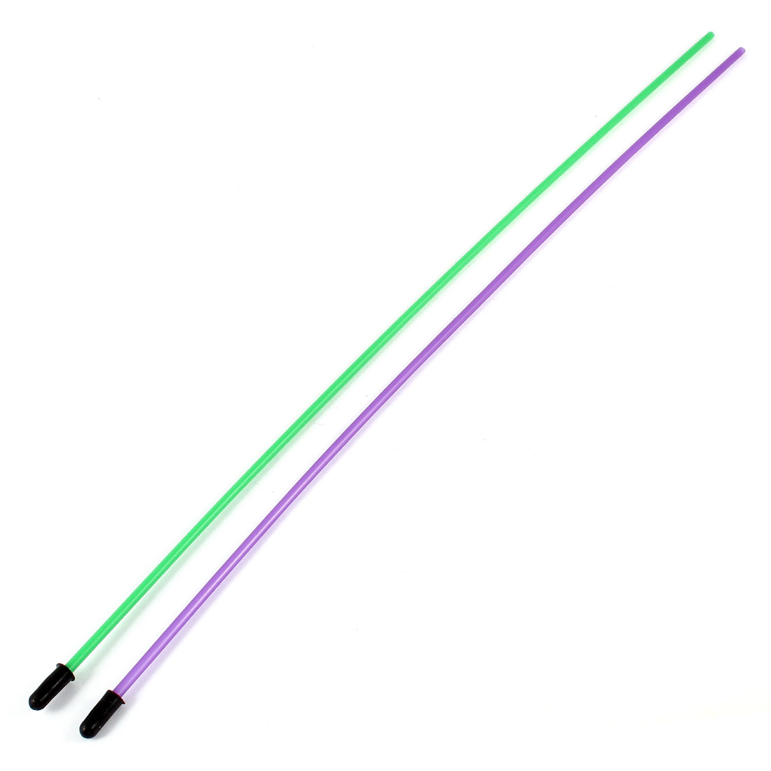 2Pcs 1.5mm x380mm Green Purple Plastic Antenna Pipe Tube Protectors Receiver Arial Aerial for Remote Control Model Car