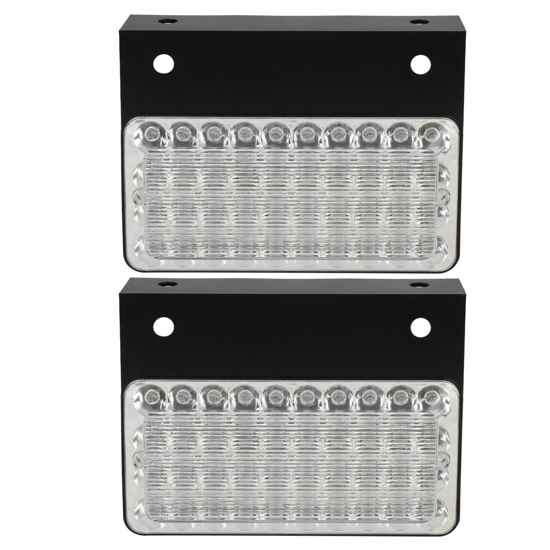 2 Pcs Car Plastic Casing White 40 LED Stop Turn Parking Tail Light DC 24V
