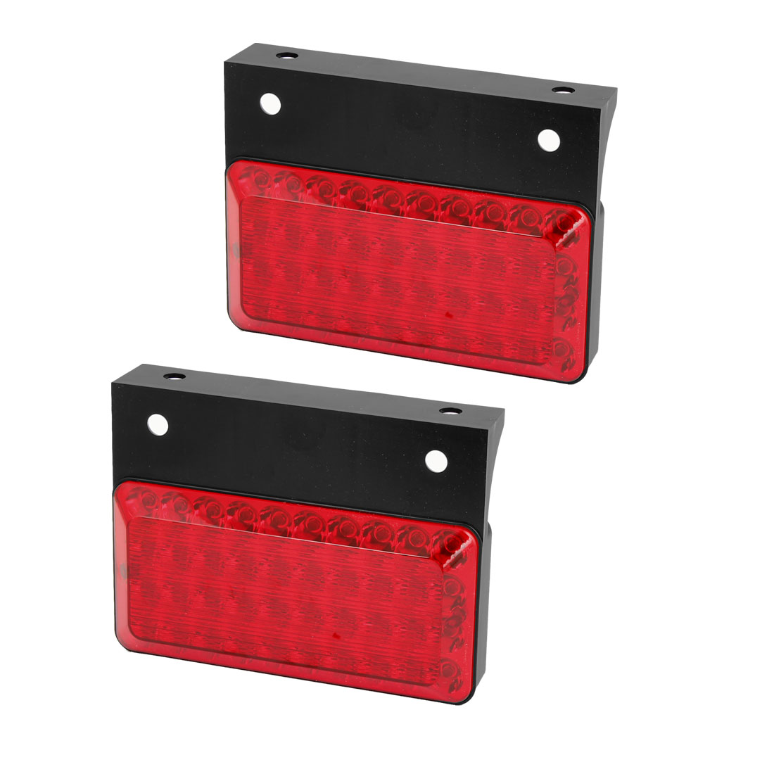2 Pcs Rectangle Red 40 LED Stopping Signal Turn Tail Light Lamp for Auto Car
