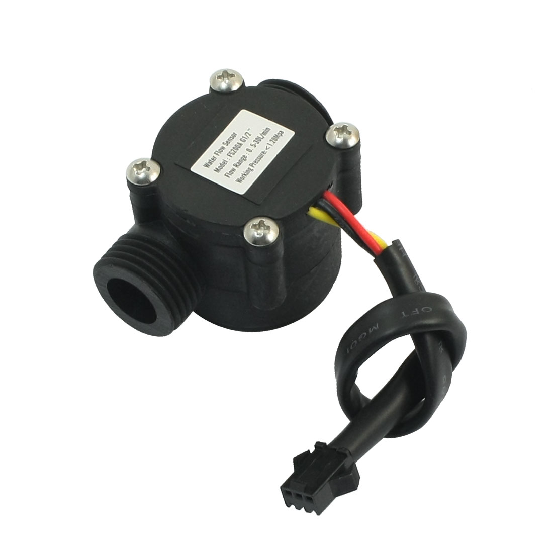 G1/2 Threaded 0.5-30L/min 1.2Mpa Hall Switch Fluid Water Flow Sensor Flowmeter
