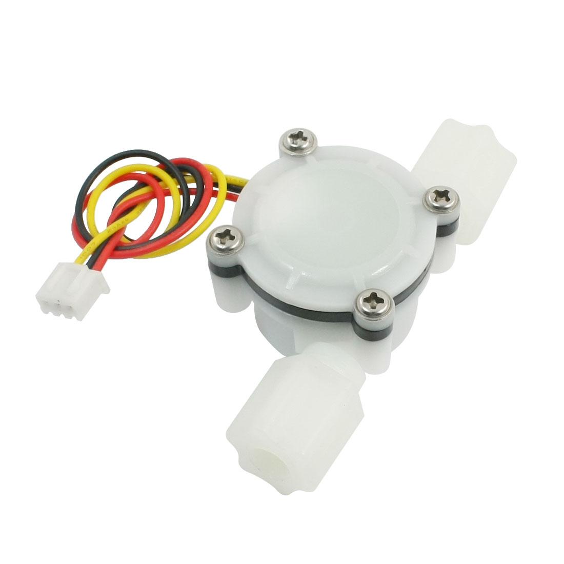 Plastic 0.3-6L/min 0.8Mpa G1/4 Male Thread Water Flow Rate Sensor Flowmeter