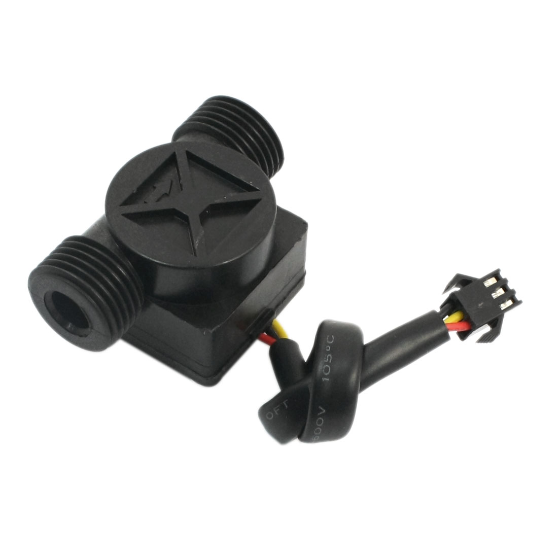 G1/2 0.5-30L/min 1.2Mpa Hall Switch Fluid Water Flow Sensor Flowmeter Black