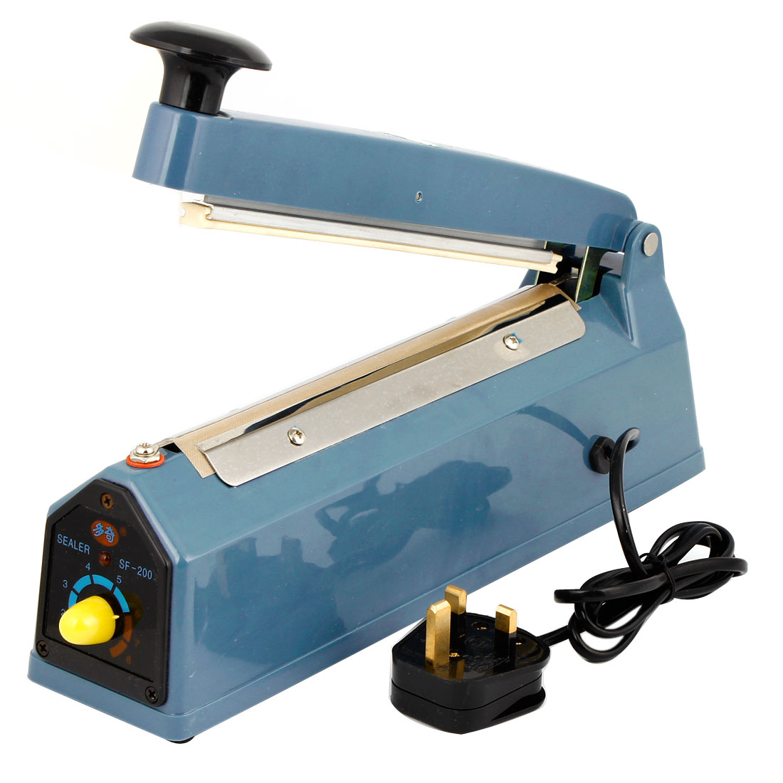 UK Plug AC220V Pneumatic Impulse 200mm Automatic Foot Sealer Heat Seal Plastic Poly Film Bags