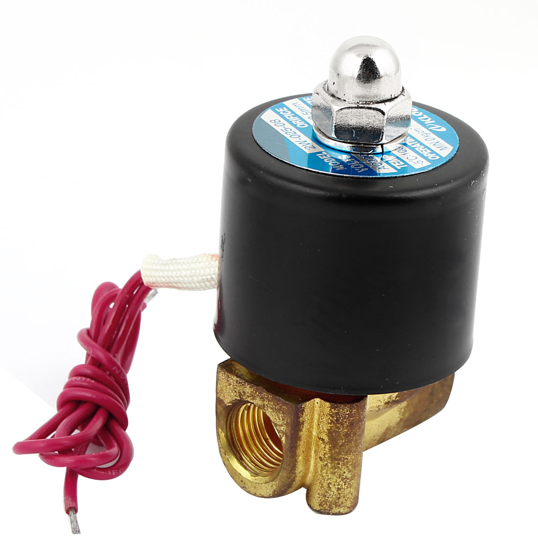 1/4PT 2 Way Double Position Pneumatic Solenoid Valve Gold Tone Black AC220V