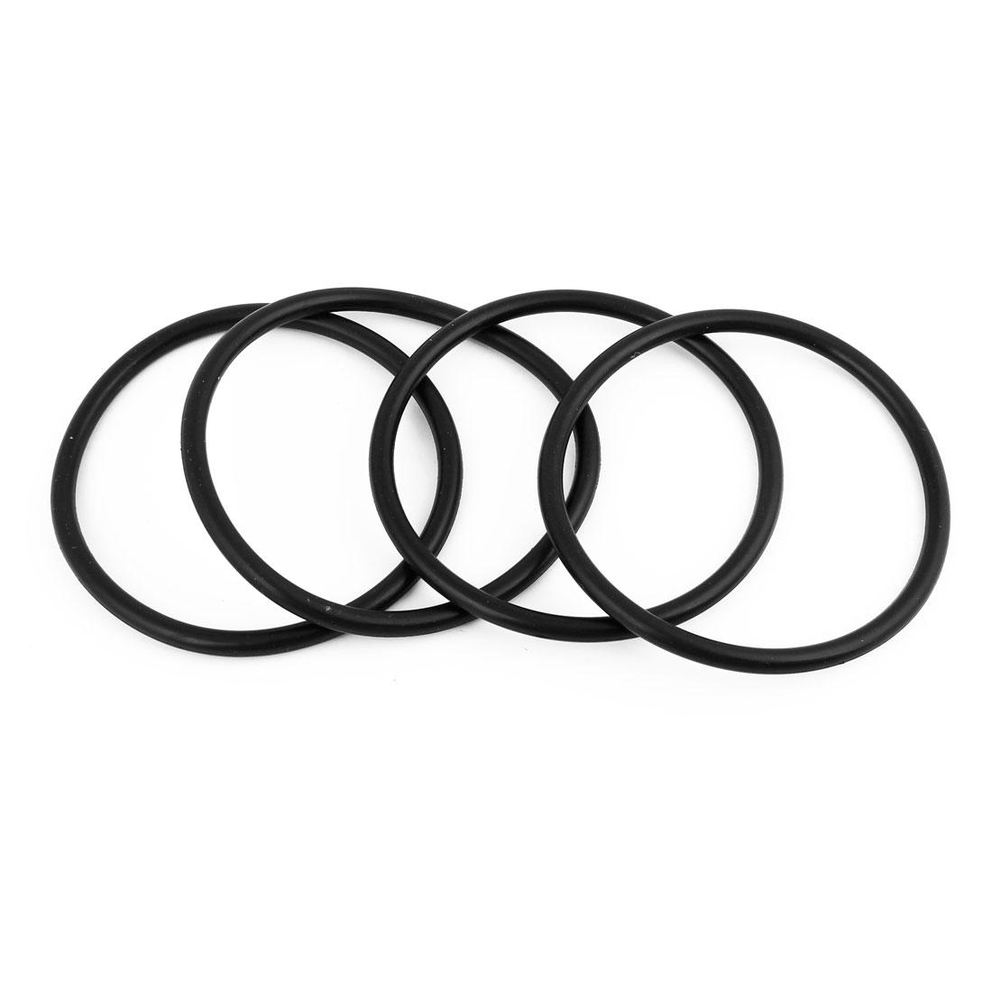 4 Pcs Black HNBR Car Van Air Con A/C Seal O Ring 85 x 5mm