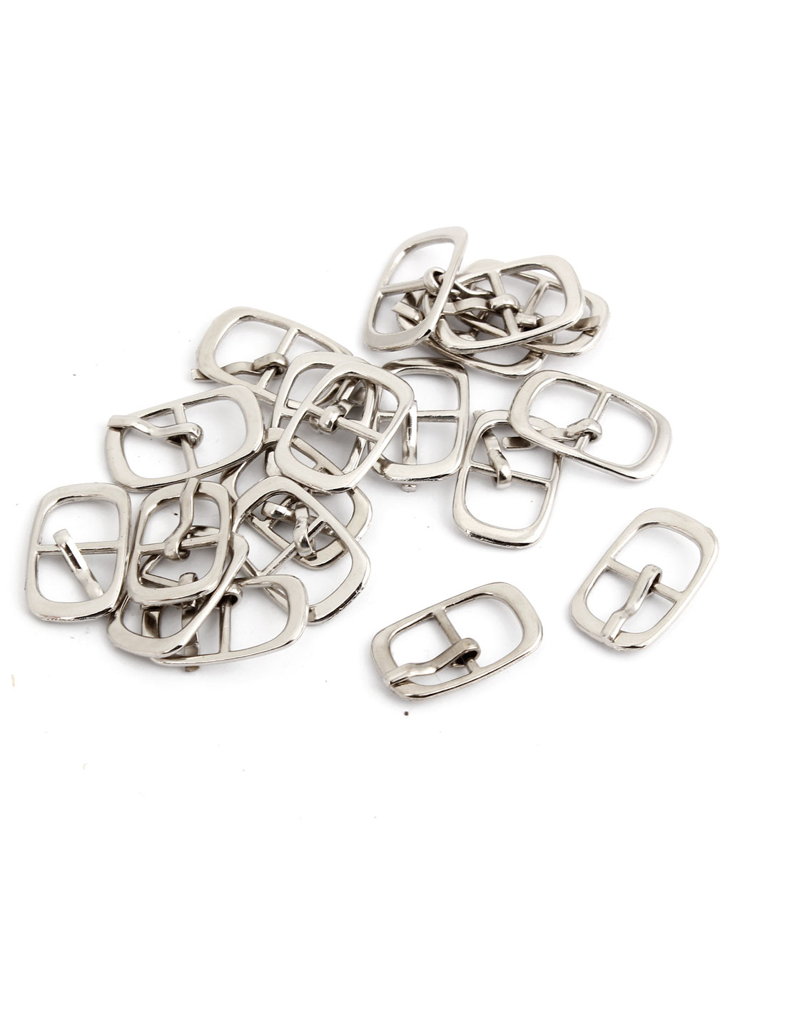 19 Pcs Metallic Single Prong Pin Buckles for 9mm Width Shoes Belt