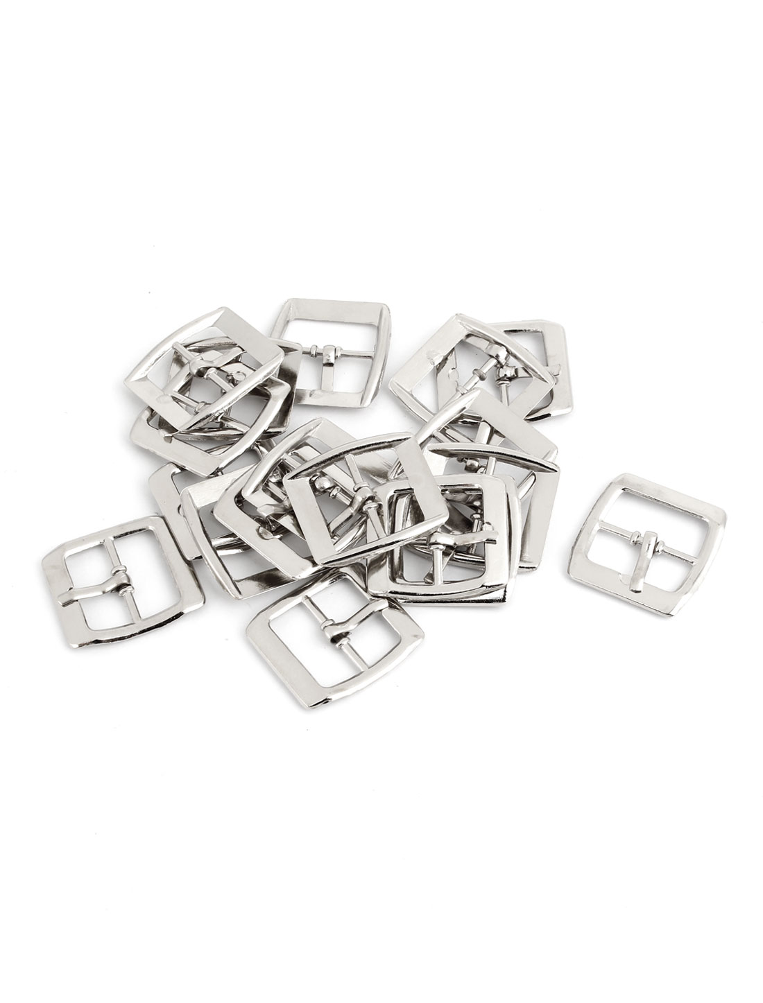 20 Pcs Metallic Single Prong Pin Buckles for 19mm Wide Belt