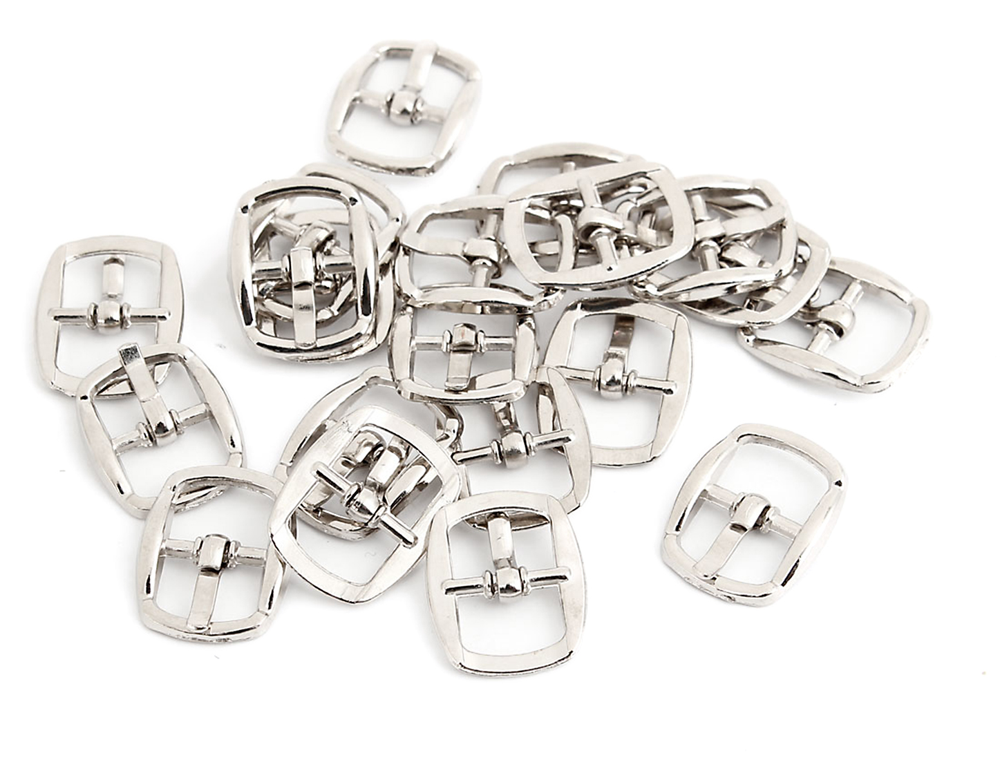 20 Pcs Rectangular Single Prong Pin Buckles for 10mm Wide Shoes Belt