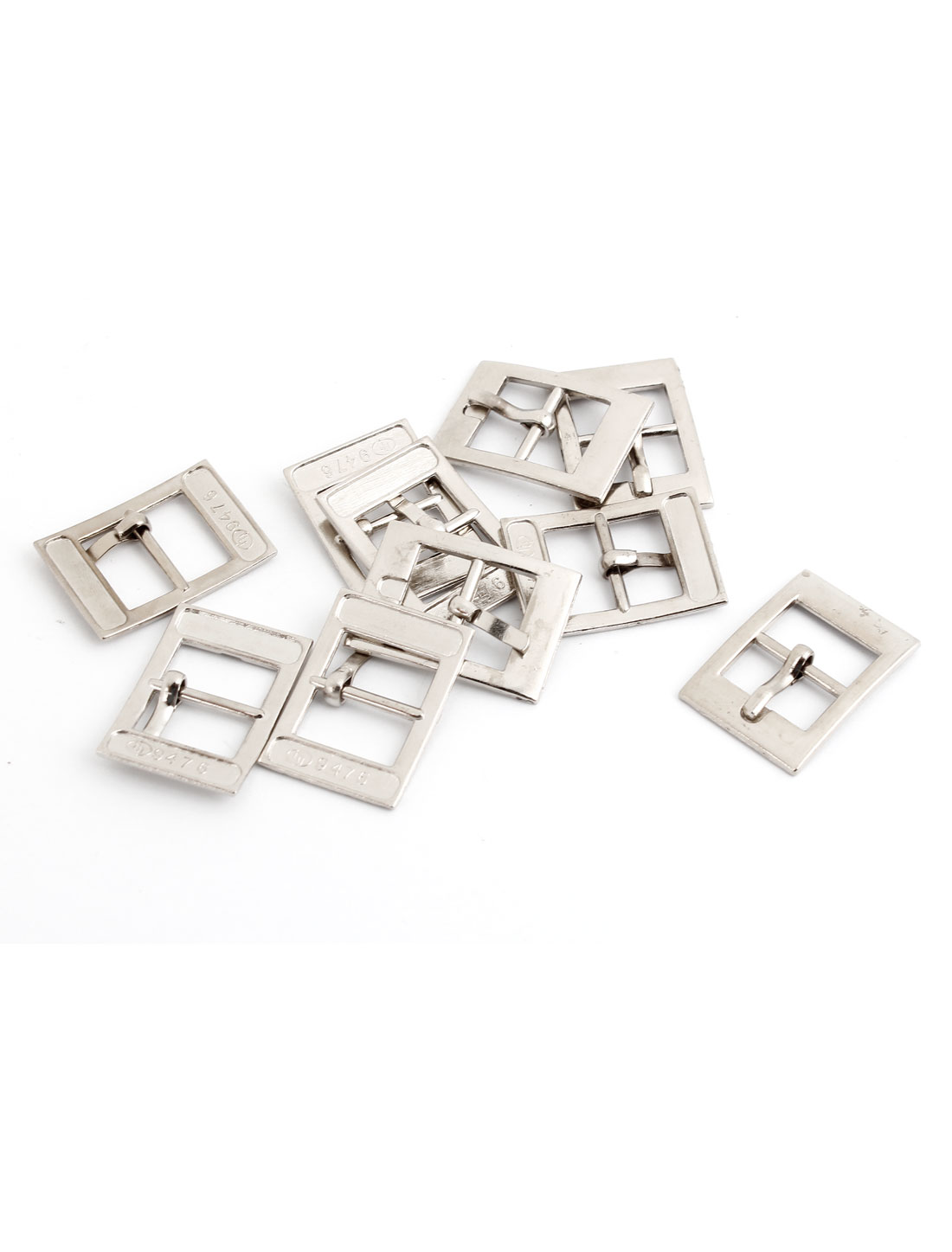 10 Pcs Metallic Single Prong Pin Buckles for 12mm Wide Shoes Belt