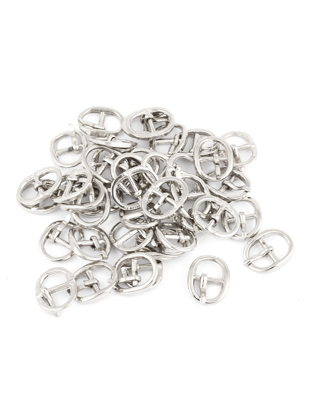 40 Pcs Metallic Single Prong Pin Buckles for 7mm Wide Shoes Belt