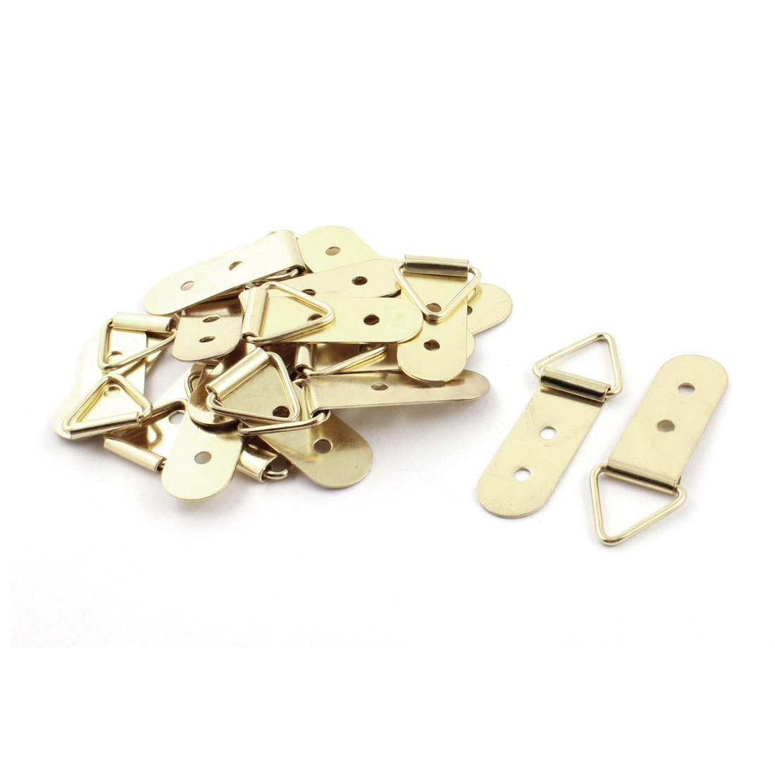 20Pcs 45mm Metallic Triangle D Rings Picture Frame Frame Hooks Wall Hanger Hanging Fixings