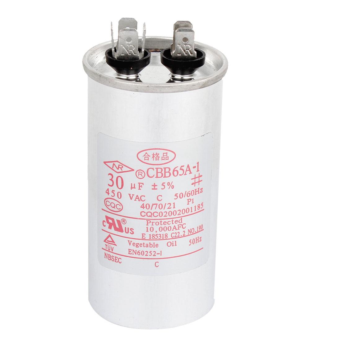 CBB65A-1 AC 450V 30uF Air Conditioner Motor Running Capacitor