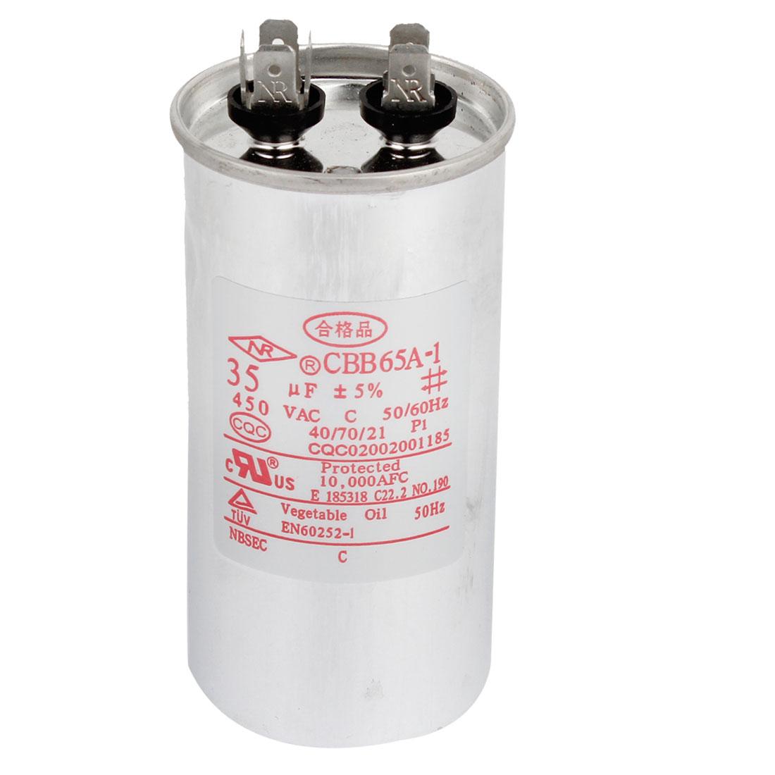 AC 450V 35uF Polypropylene Film Capacitor for Air Conditioner