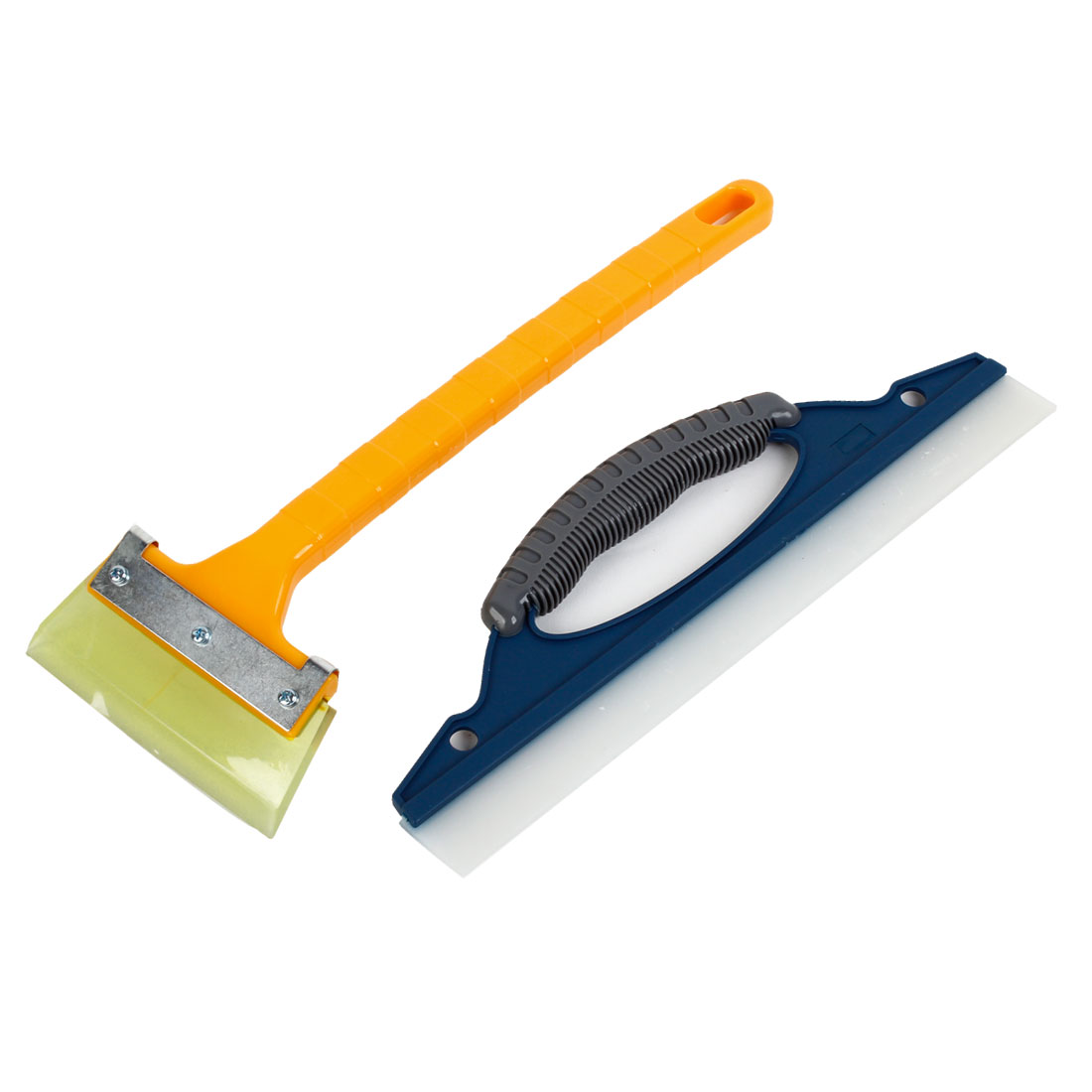 2 in 1 Antislip Plastic Handle Scraper Squeegee Cleaner for Car Auto