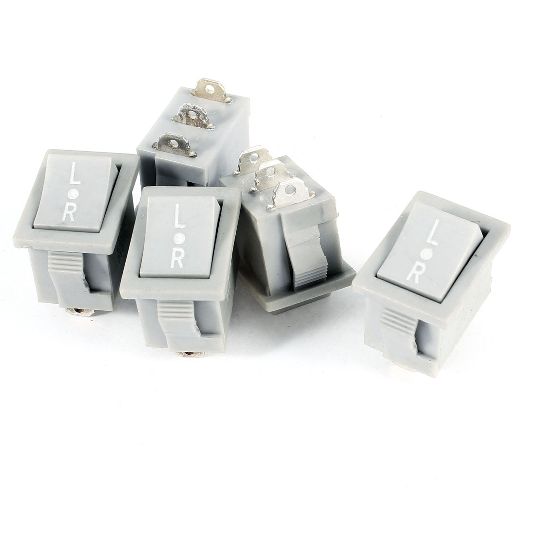 5 Pcs KCD3-B AC 250V 6A 12A 3Pin SPDT On/Off/On Rocker Switch Gray