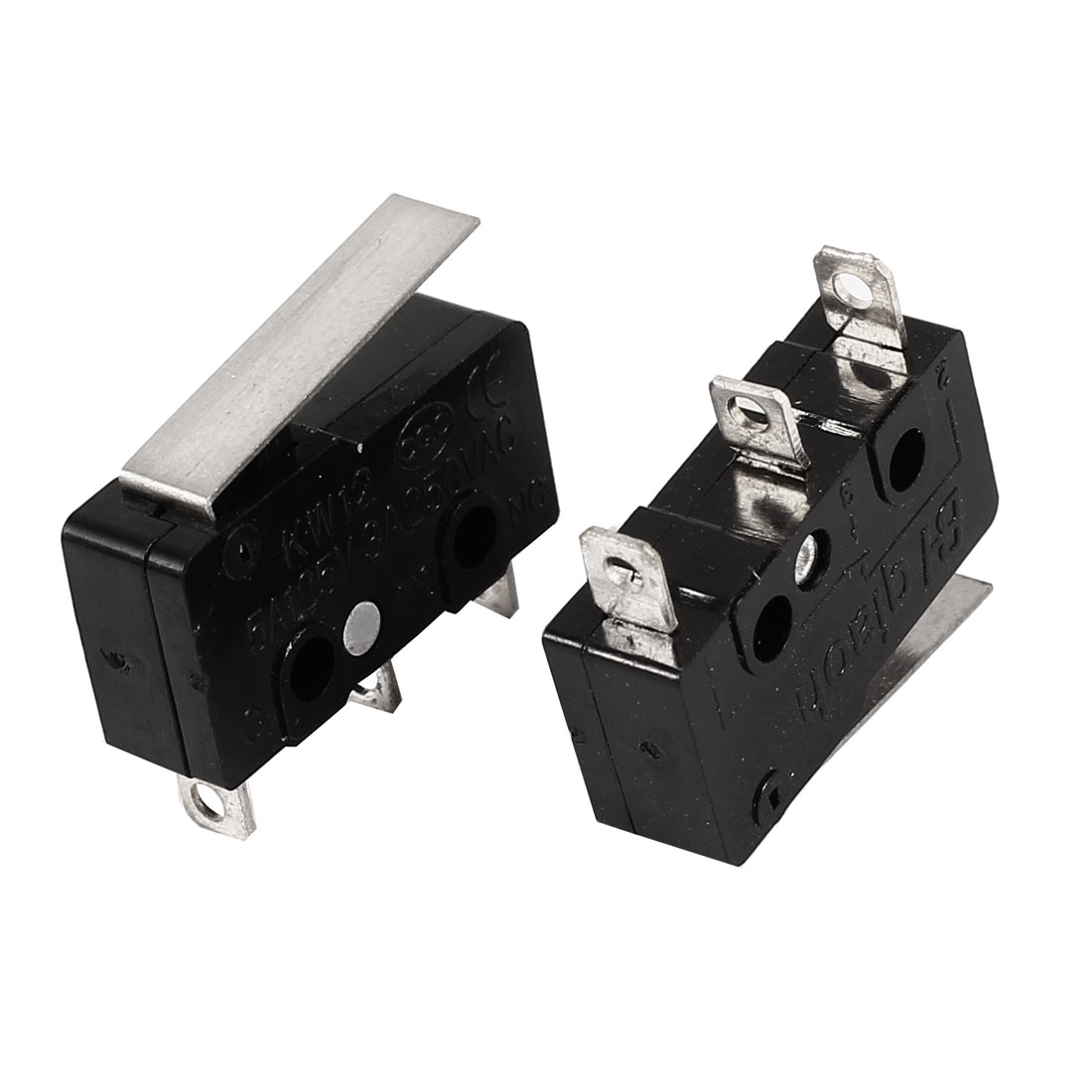 2 Pcs Micro Limit Switch Straight Hinge Lever Miniature Snap Action LOT