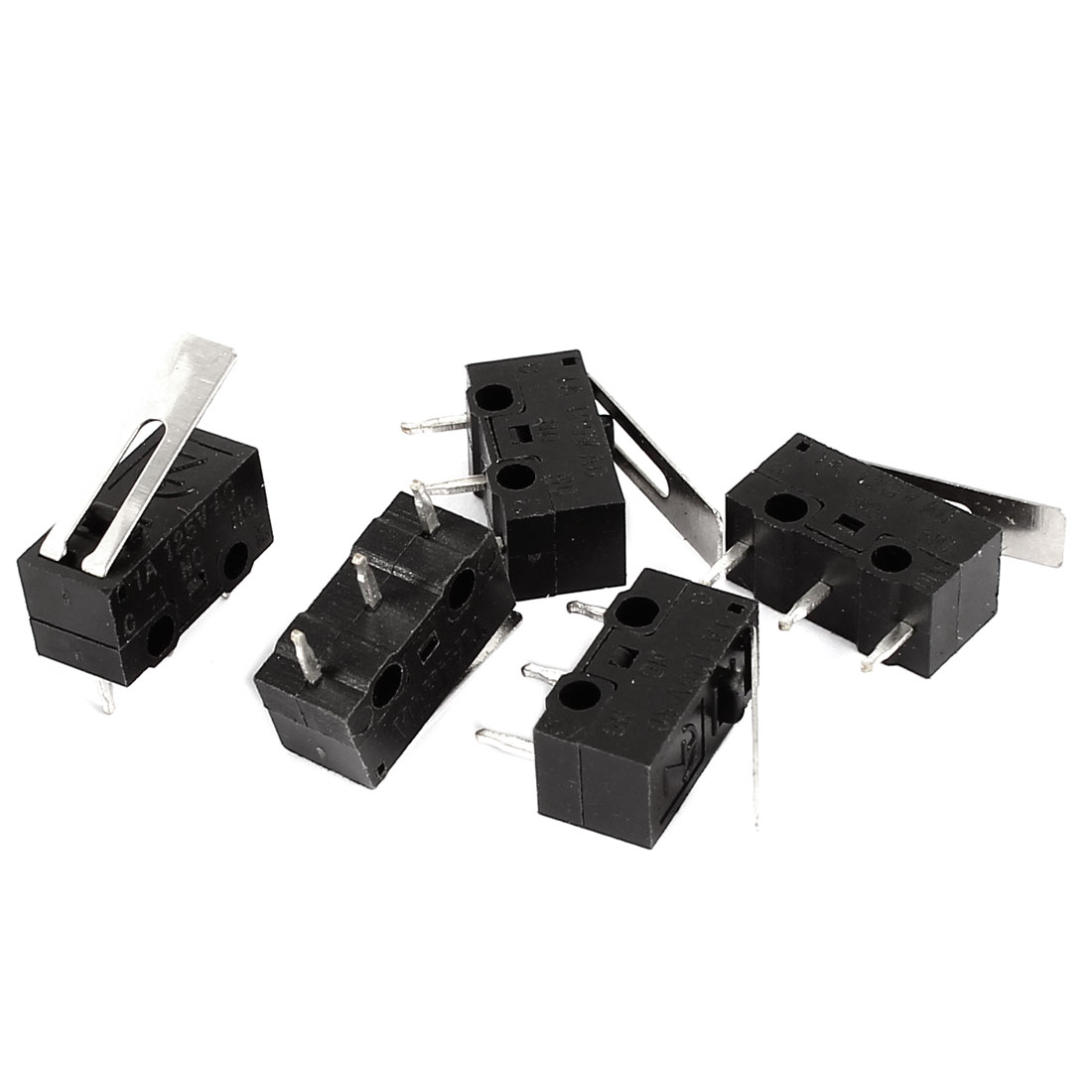 5 Pcs NO NC Straight Hinge Lever Micro Limit Switch AC 125V/1A