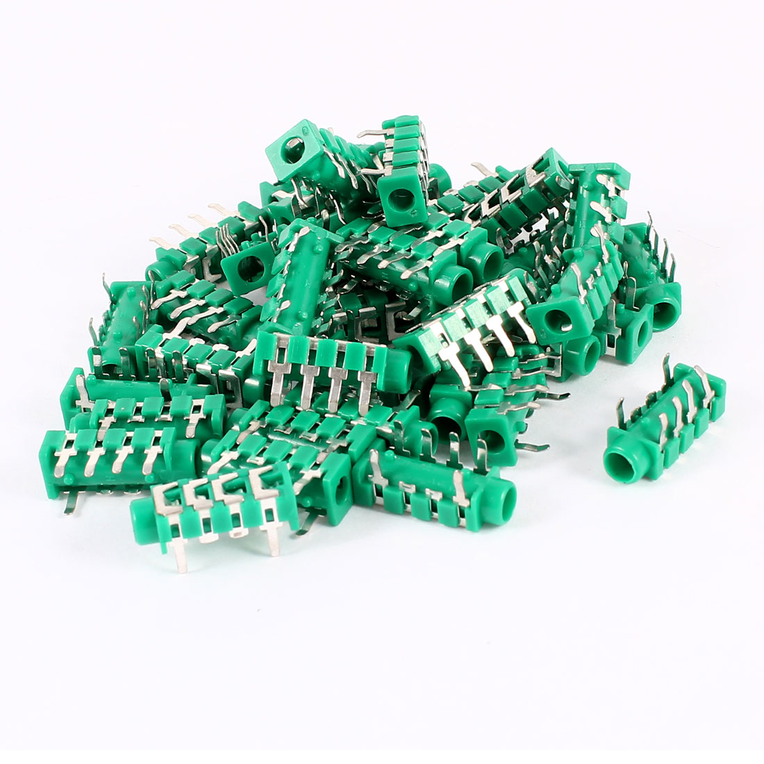 40 Pcs MP3 Earphone Headset 6 Pin PCB Mount 3.5mm Jack Socket Audio Connector