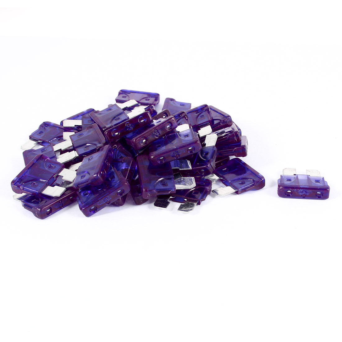 40 Pcs Motorcycle Car Auto ATC ATO Mini Blade Fuse Purple 3A