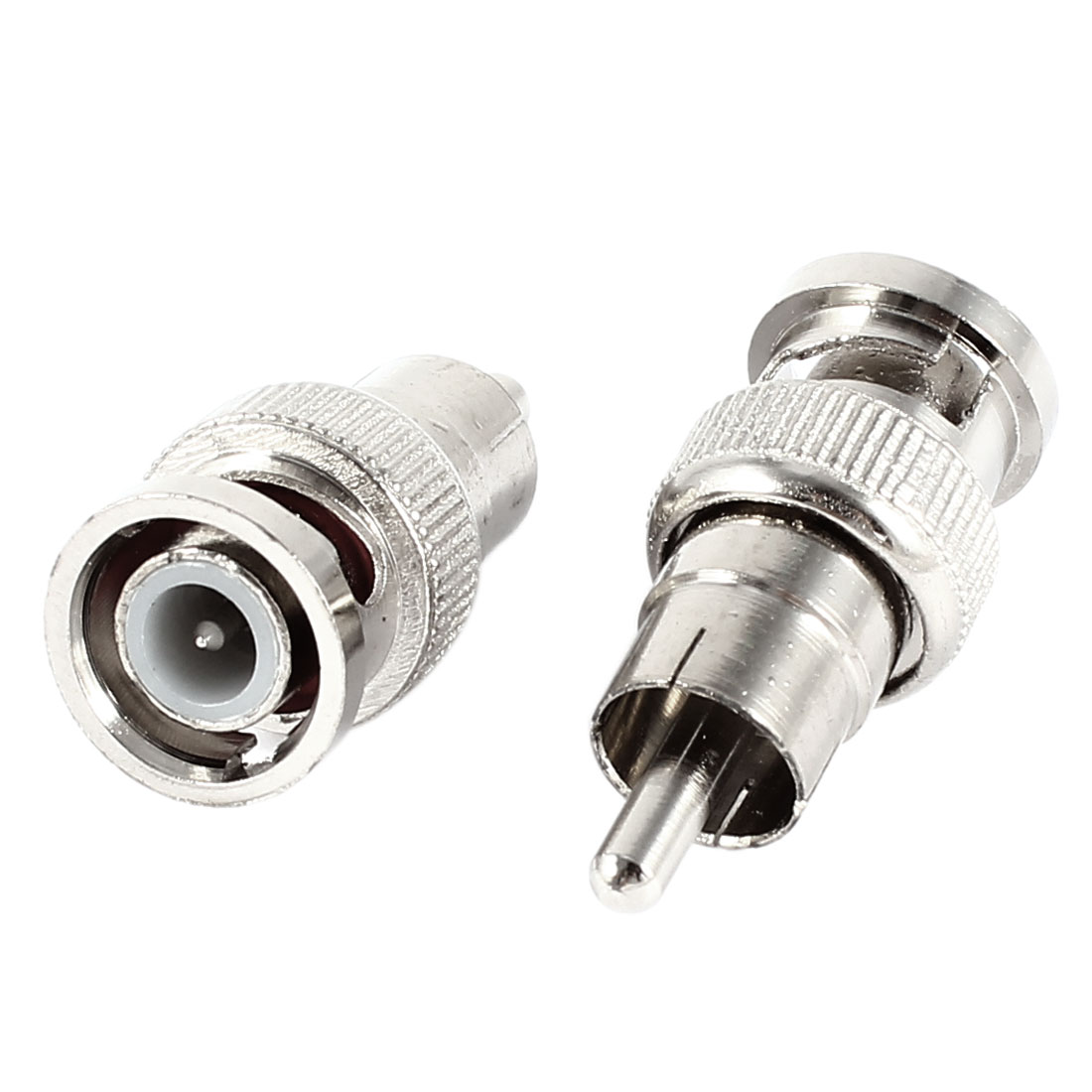 2 Pcs BNC Male Plug to RCA Male Adapter Connector Coupler