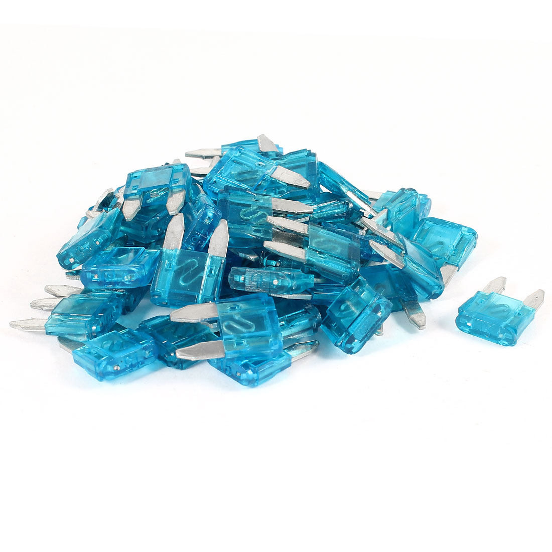50 Pcs Motorcycle Car Auto ATC ATO Mini Blade Fuse Blue 15A