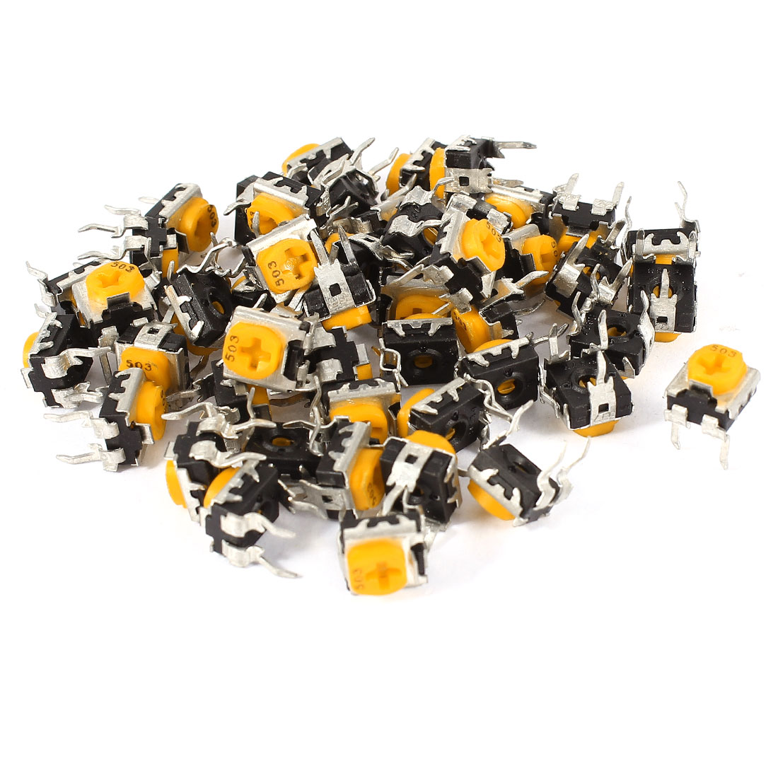 50 Pcs Variable Resistors Trimmer Potentiometers 503 50K Ohm
