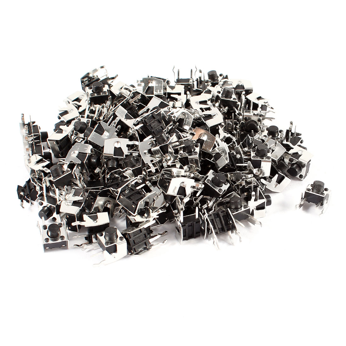100 Pcs 6x6x6mm PCB Mount Tactile Tact Push Button Micro Momentary Switch DC 50V 1.2A