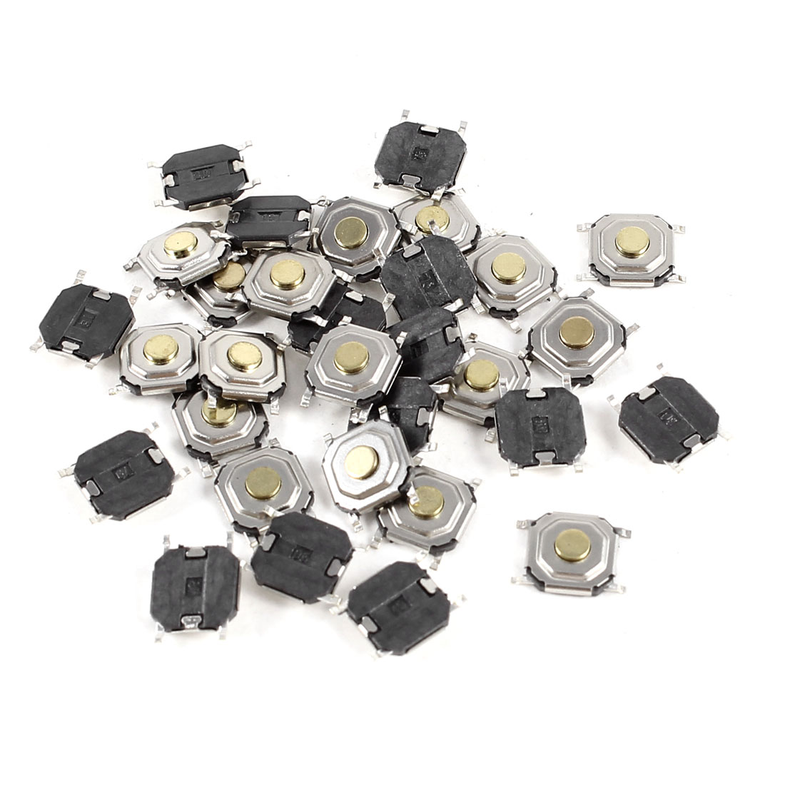 30 Pcs 5x5x1.5mm SMD Momentary 4 Pin Tact Tactile Micro Switch DC 12V 0.2A