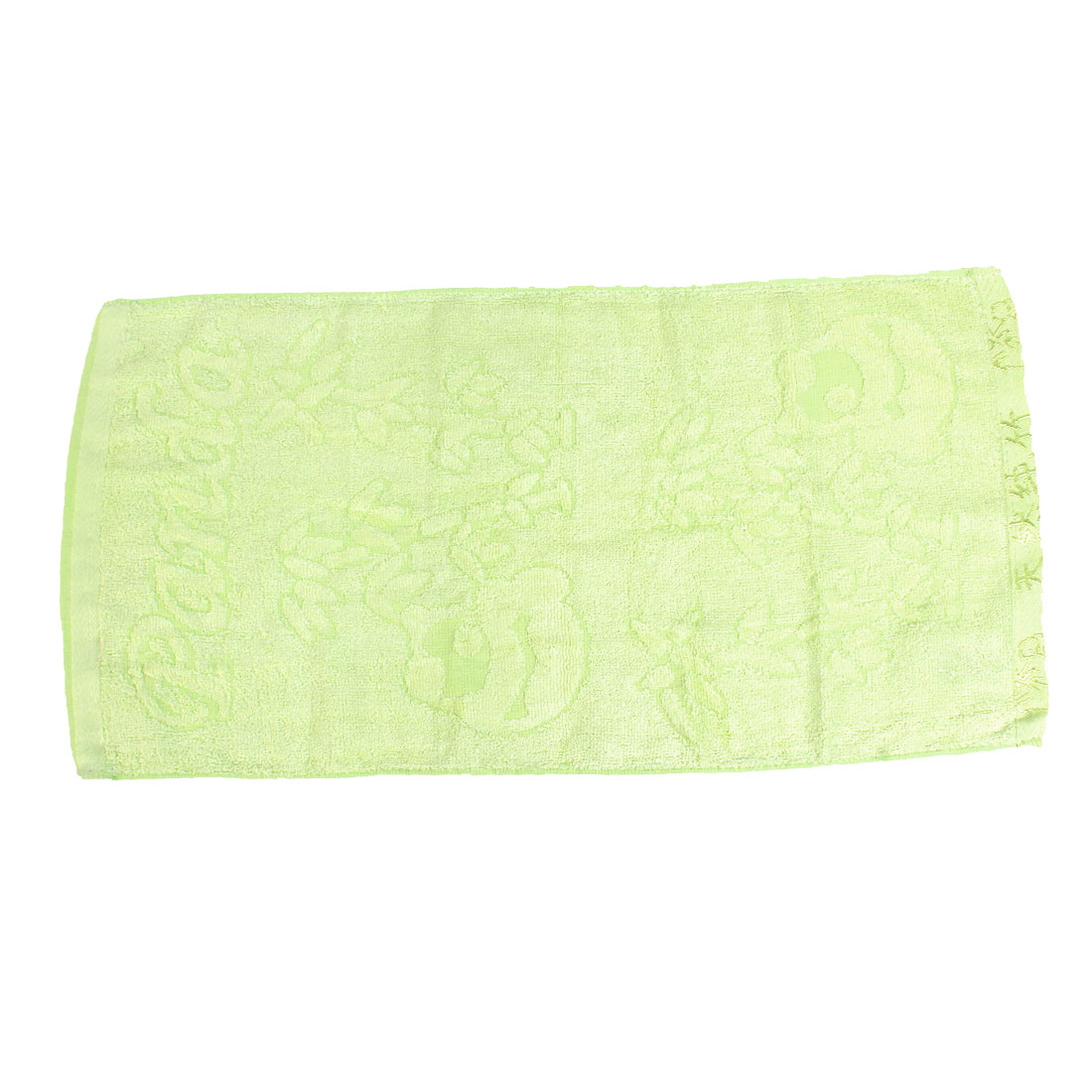 Home Bathroom Bamboo Pattern Face Hand Terry Towel Light Green