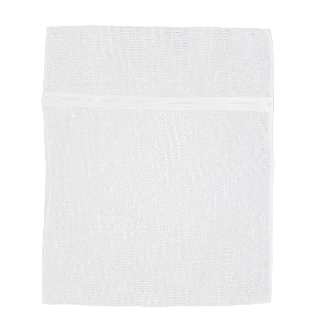 White Nylon Underwear Lingerie Cap Clothes Wash Washing Bag 60 x 48cm