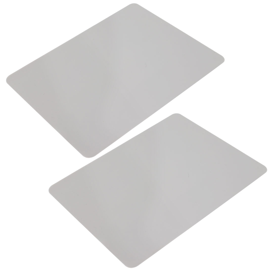 PC Notebook Gray Soft Silicone Optical Mouse Square Pad Mat 2 Pcs