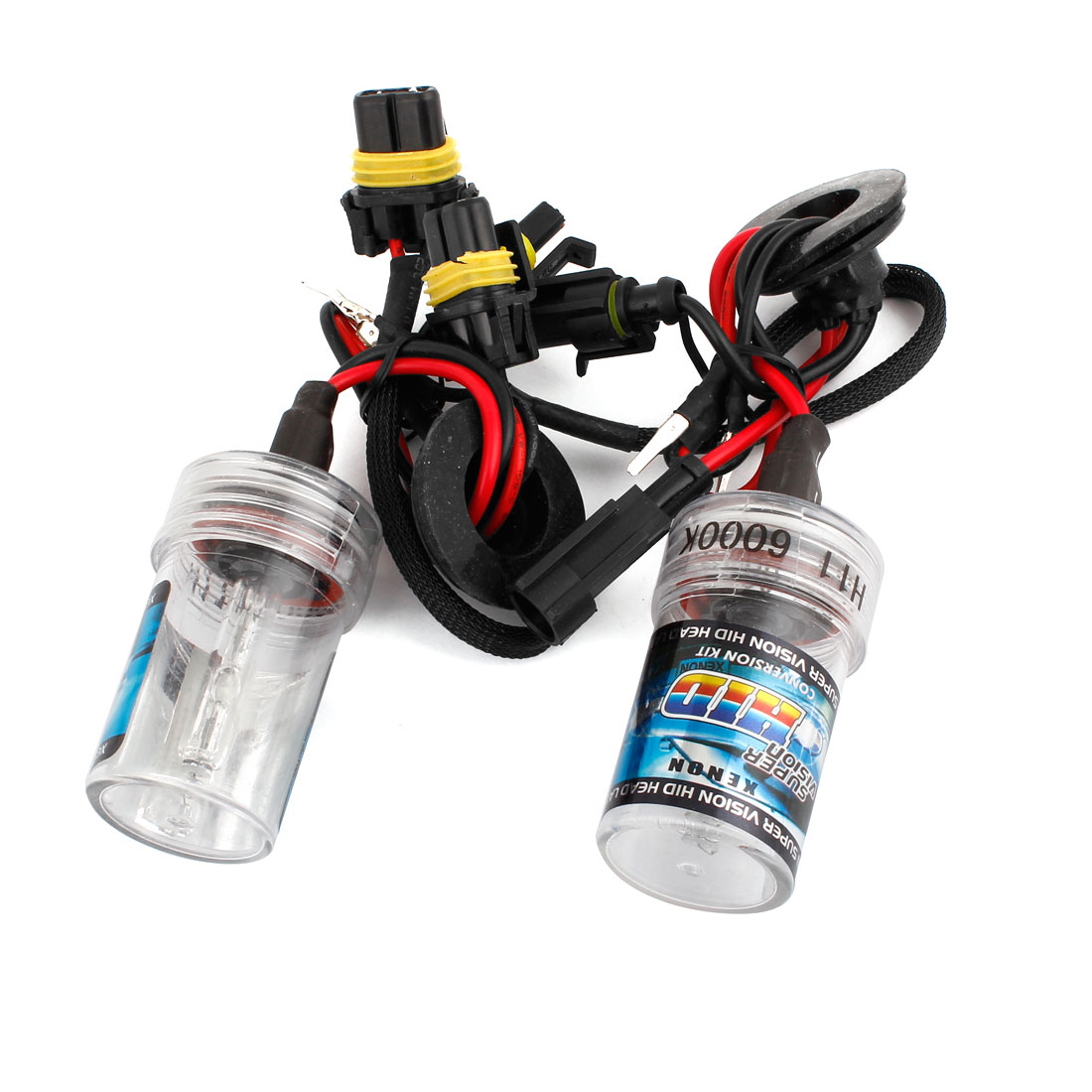 2pcs 6000K White H11 HID Xenon Bulb Lamp Light Headlamp Kit for Auto Car