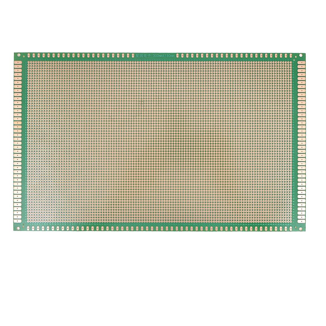 2.54mm Pitch PCB Board Copper Prototype Breadboard One Side 30cmx18cm Green