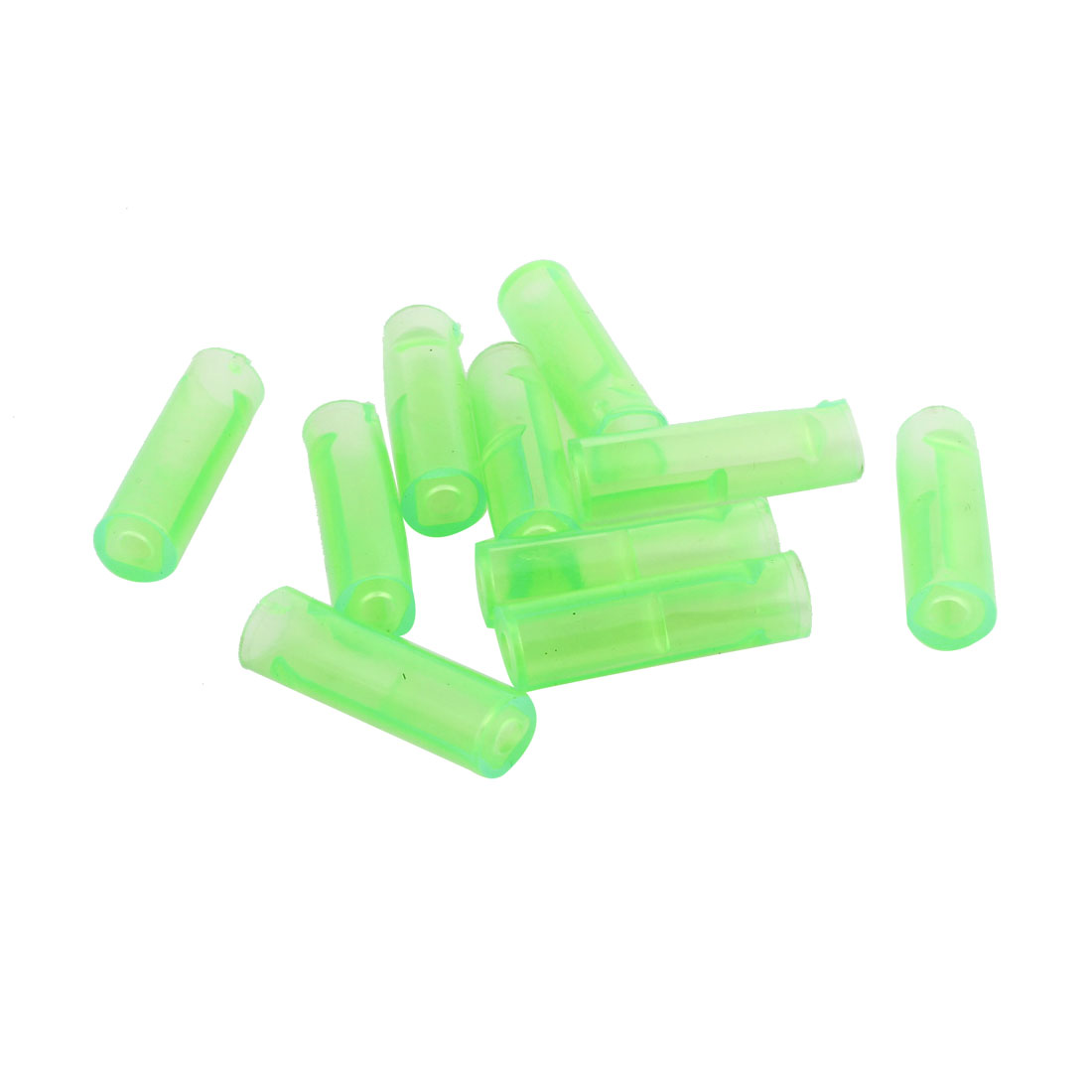 10 Pcs Green PVC Crimp Terminal Cover Sleeves 23mm x 6mm for Motorcycle