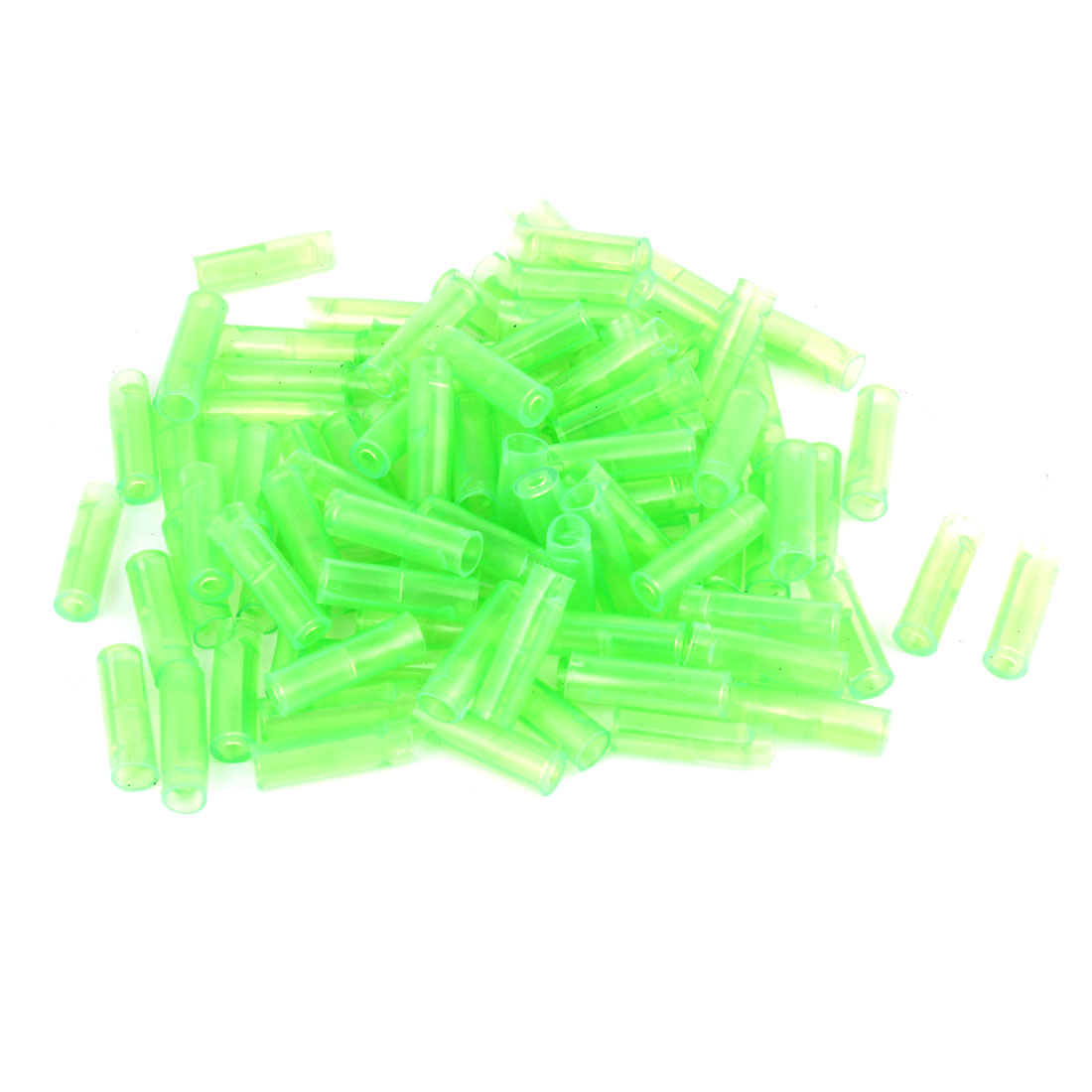 100 Pcs Green 6mm Diameter PVC Crimp Terminal Cover Sleeves for Car
