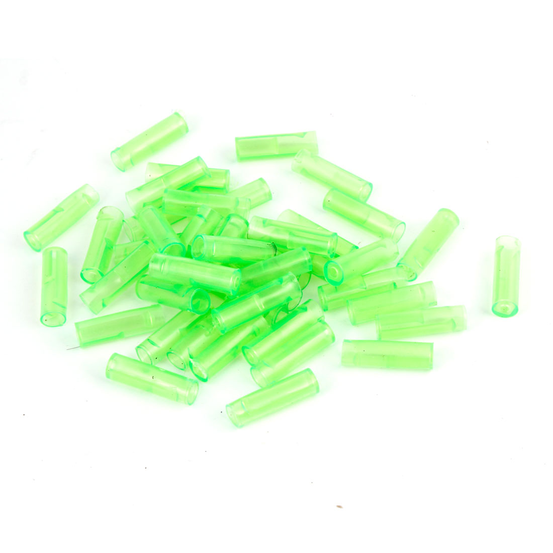 50 Pcs Green Connectors 6mm Dia Terminal Sleeves for Motorcycle Car