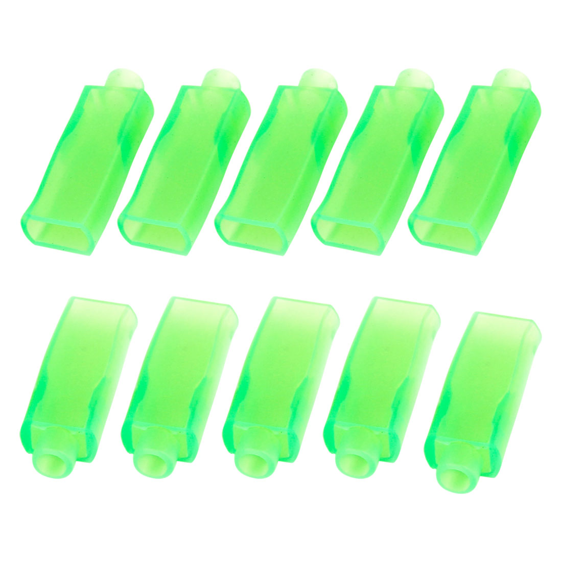 10 Pcs Green PVC Connectors 6.3mm Double Female Terminal Sleeves