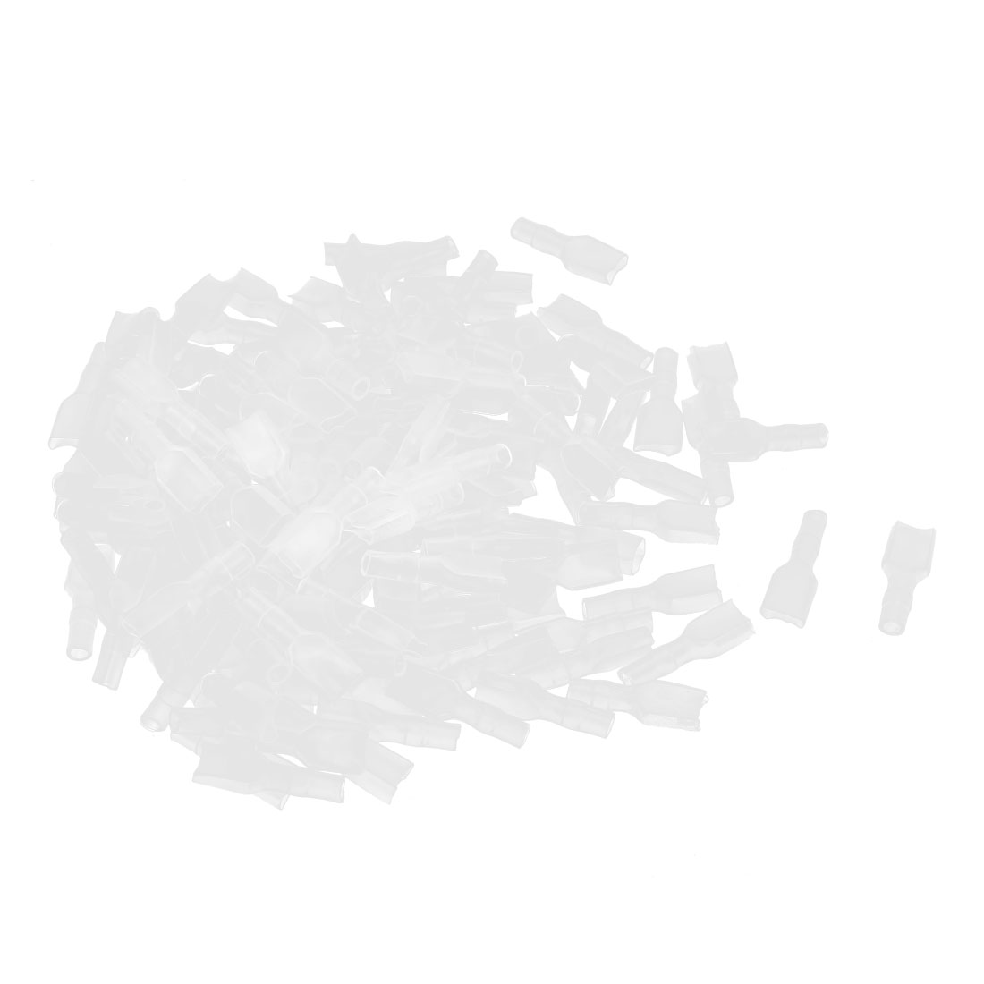 150 Pcs 6.3mm Hole Clear PVC Insulated Ring Terminal Caps Boots Covers