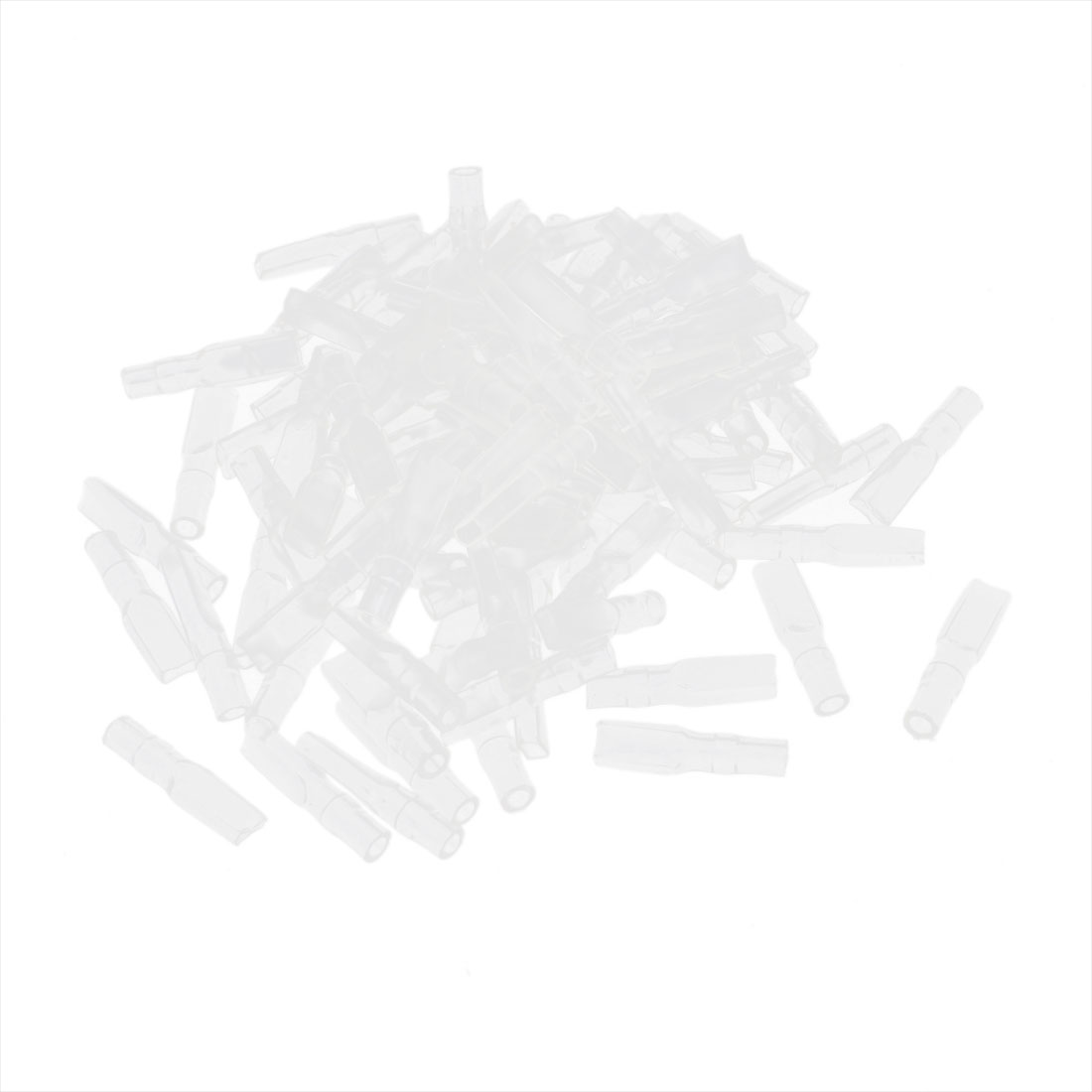 100 Pcs Motorcycle Car Clear Soft PVC Connectors 2.8mm Terminal Sleeves