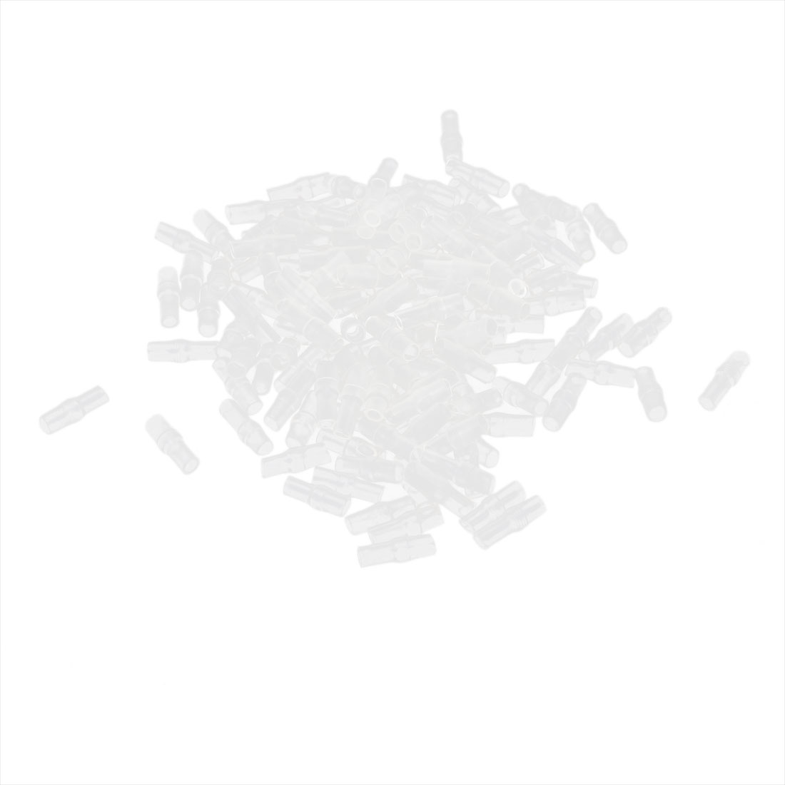 150 Pcs Clear Soft PVC 4mm Dia Wire Terminal Sleeves Insulating Covers Caps