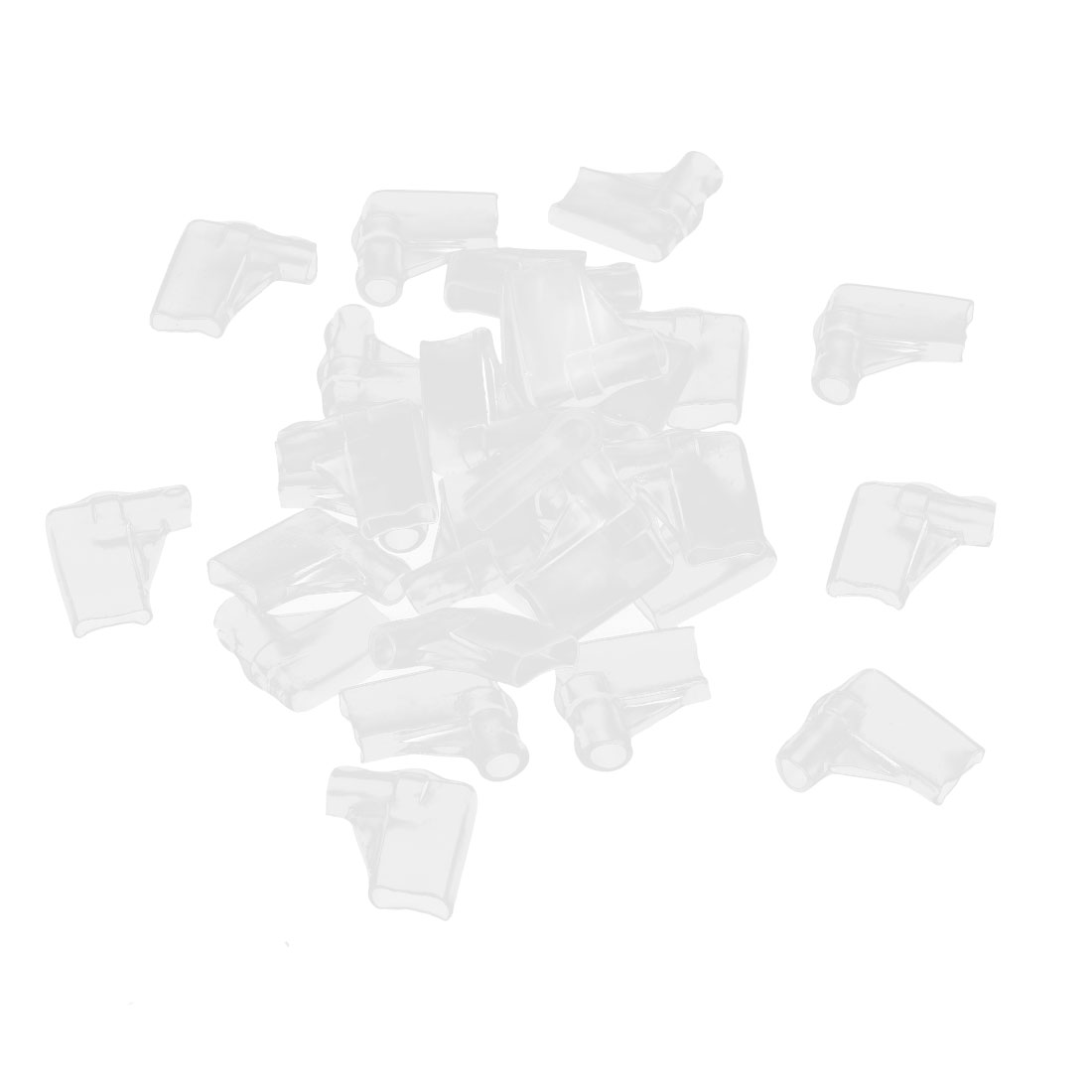 30 Pcs Clear PVC Connectors 6.3mm Elbow Female Terminal Sleeves