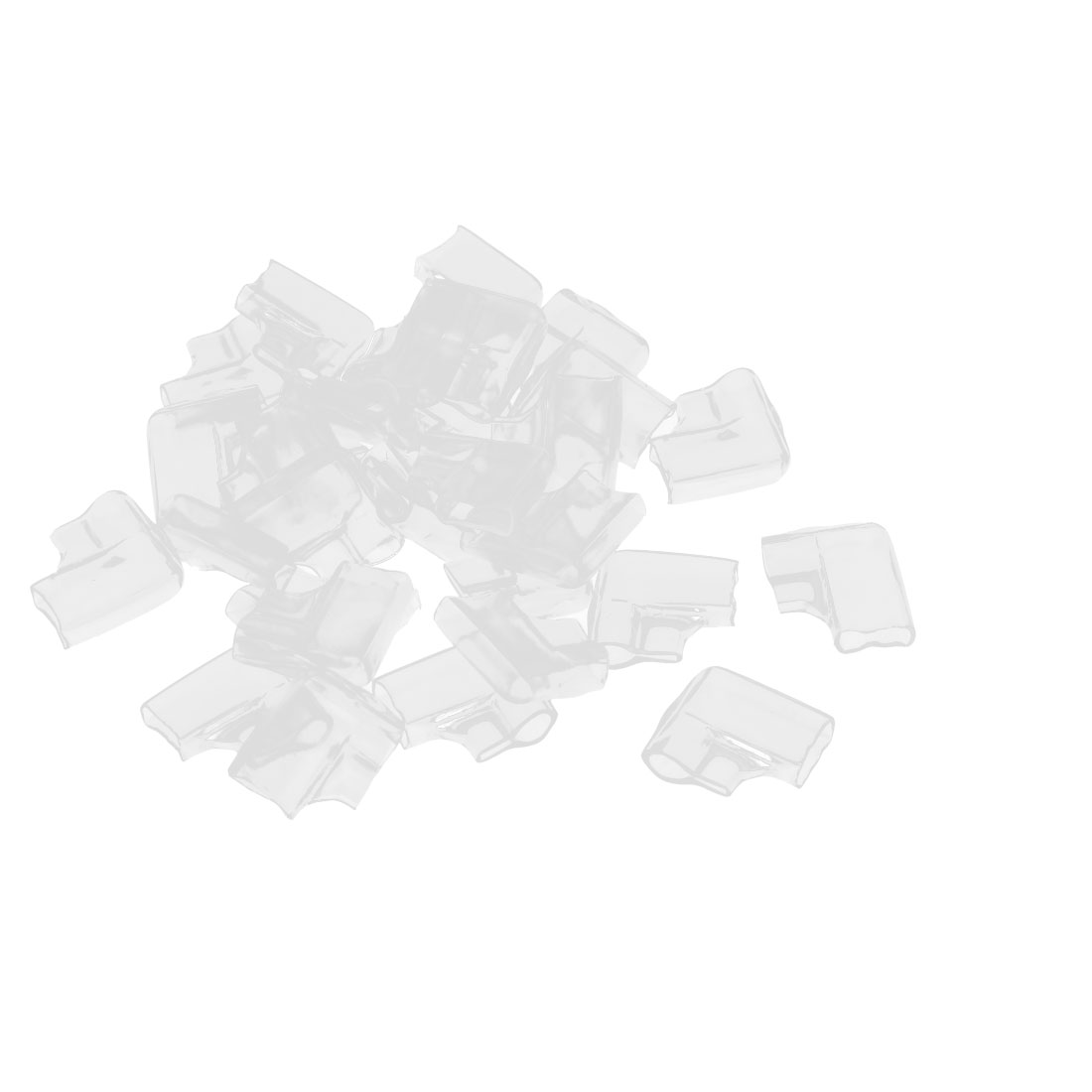 30 Pcs Clear PVC Connectors 6.3mm Elbow Double Female Terminal Sleeves