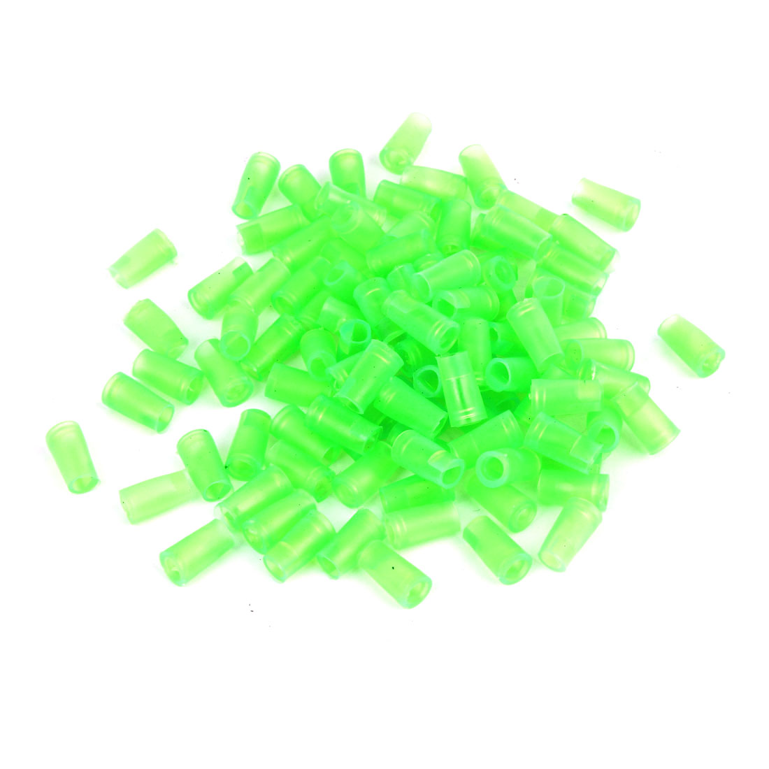100 Pcs Green 6mm Dia PVC Crimp Terminal Cover Sleeves for Motorcycle